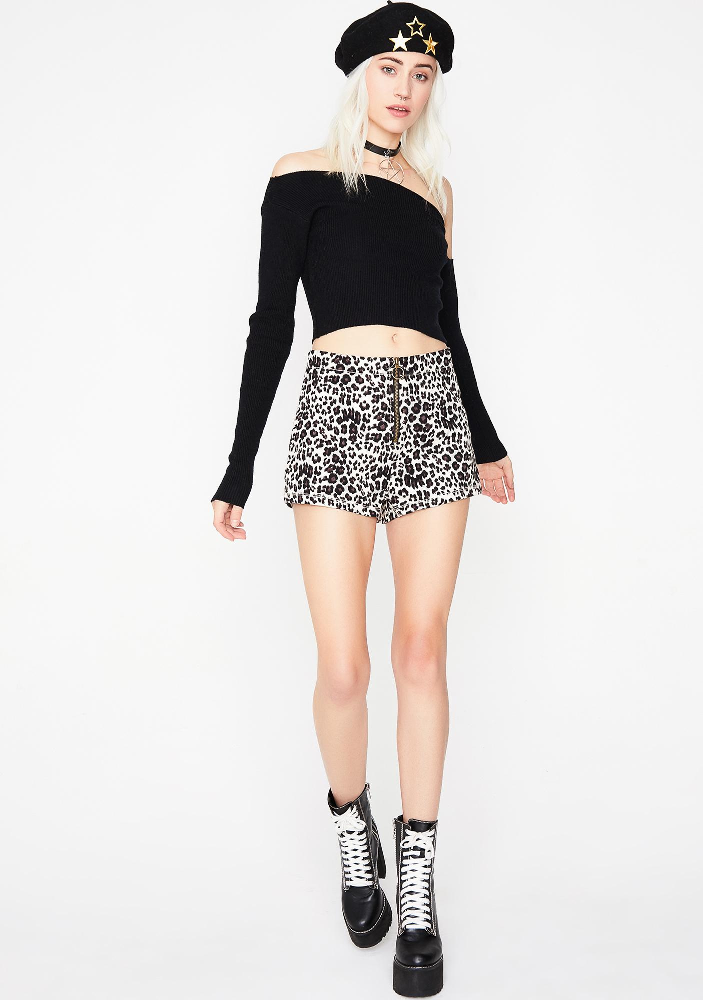 Pure Purrfection Zip-Up Shorts