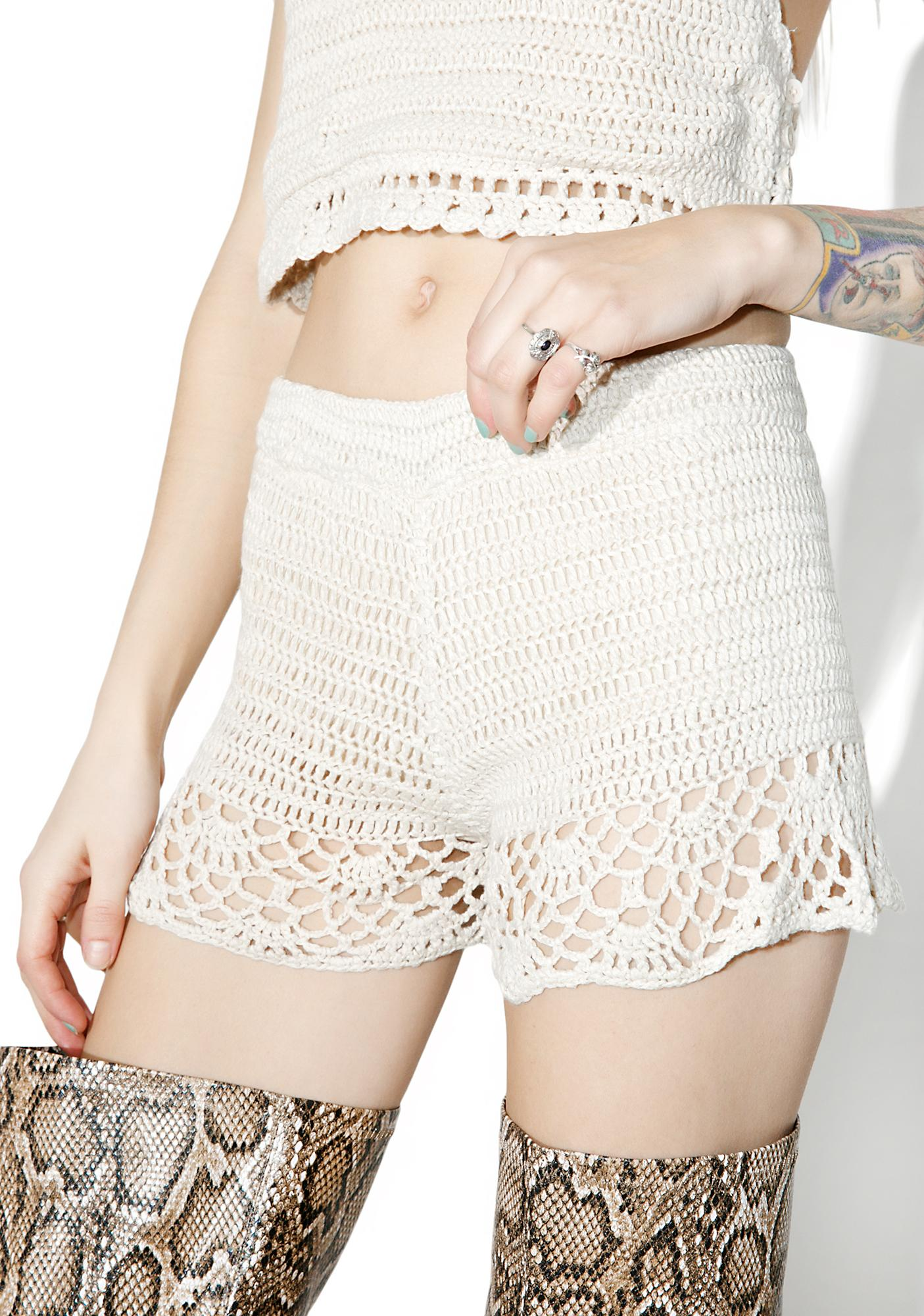 Lira Clothing Salinas Crochet Shorts