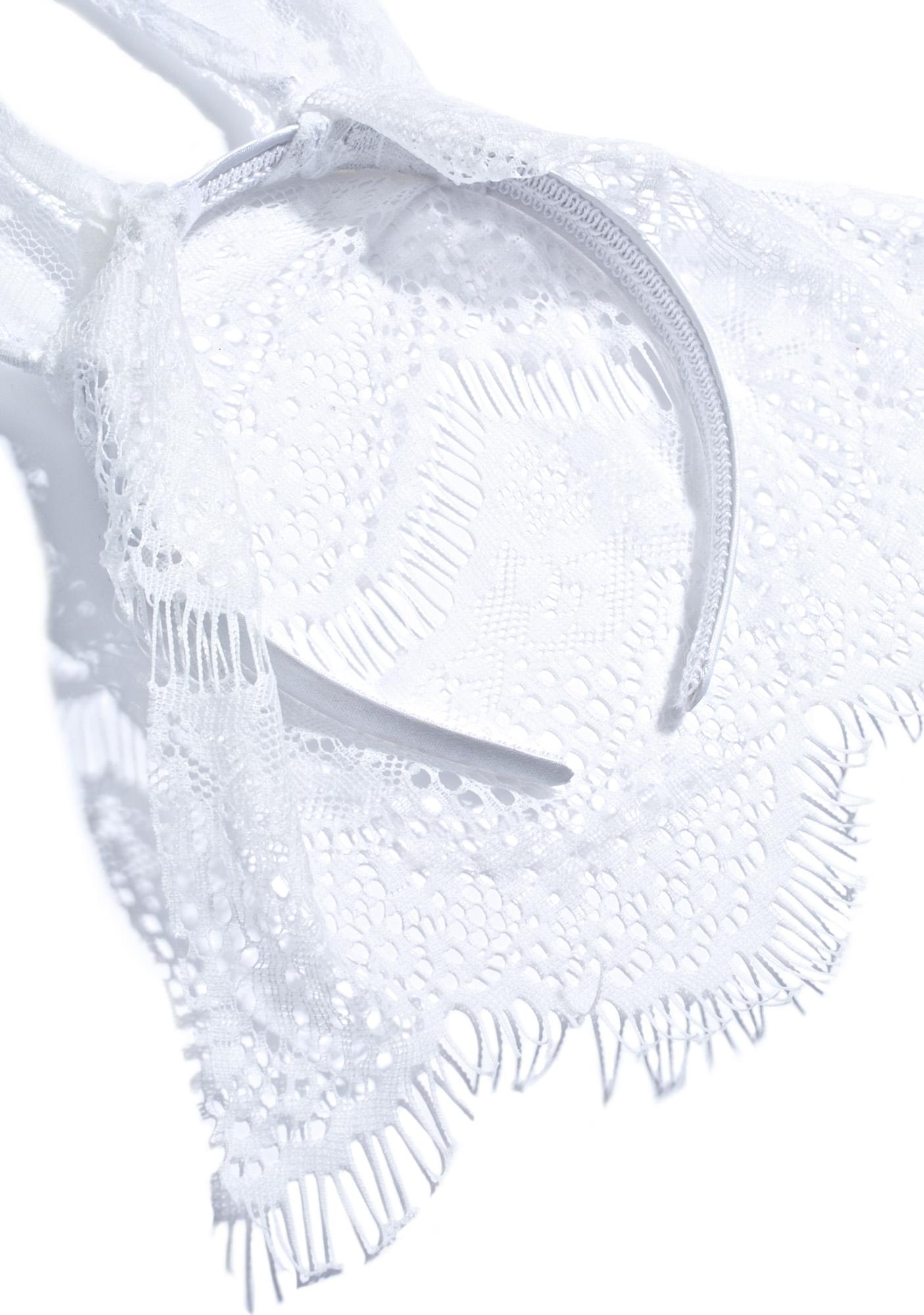 Veiled Snow Bunny Ears