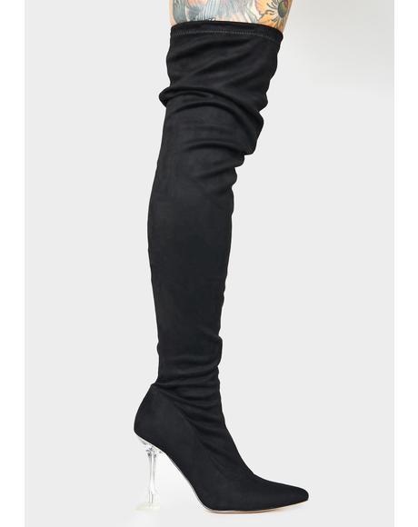 Noir Vivacious Vixen Thigh High Boots