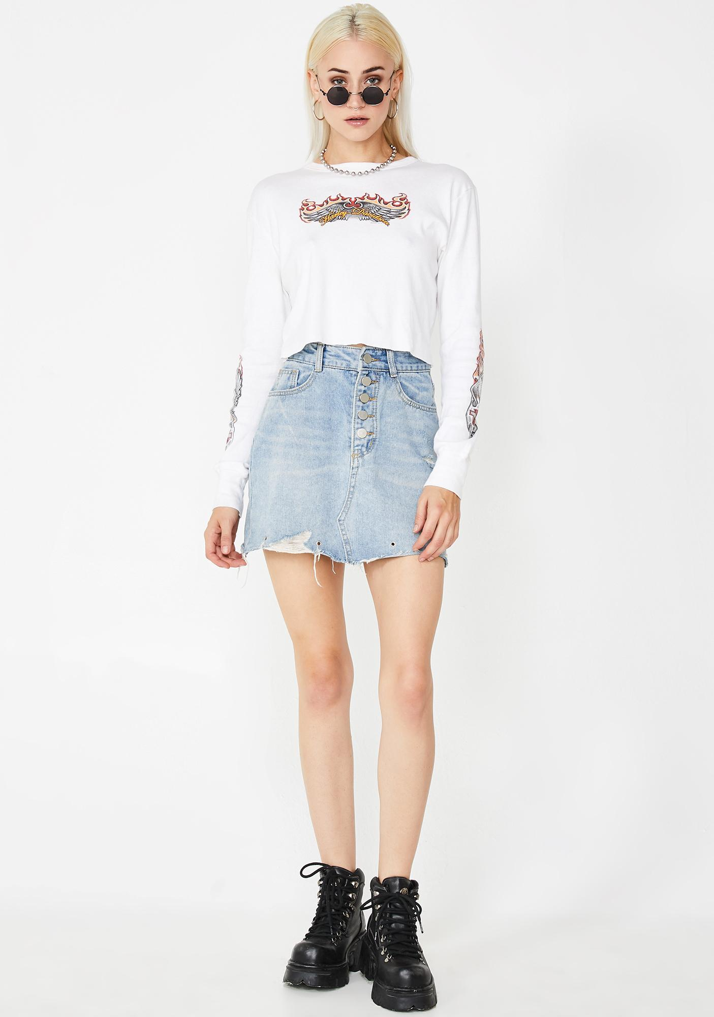 Flirty Fetch Denim Skirt
