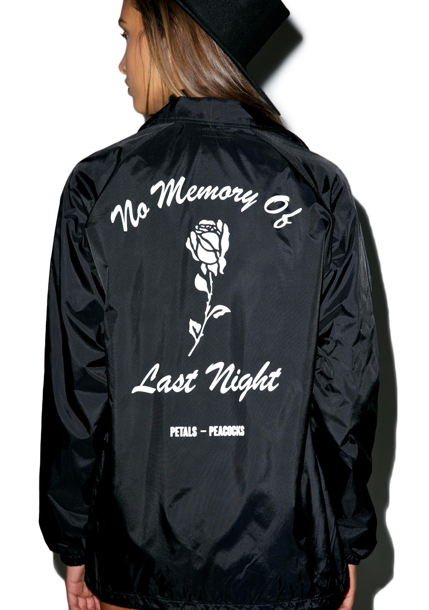 Petals and Peacocks No Memory Coaches Jacket