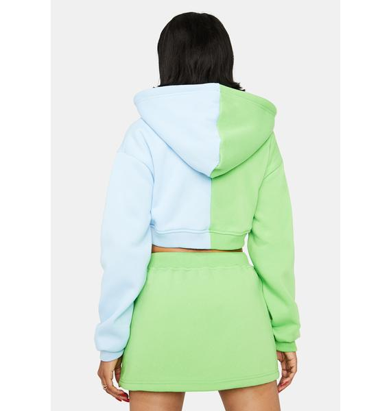 Island Two Face Zip Up Hoodie