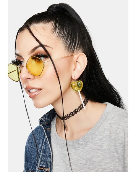 Citrus Love Licks Lollipop Drop Earrings