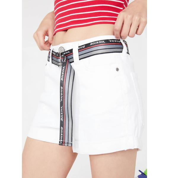 Dickies Girl Pure Shortie Roll Cuff Shorts