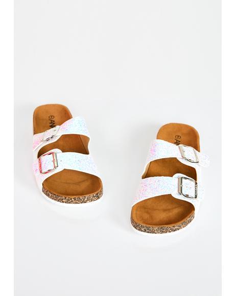 Sparkle Ur Way Glitter Sandals