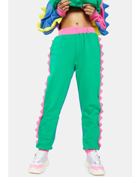 Dino Mighty Colorblock Sweatpants
