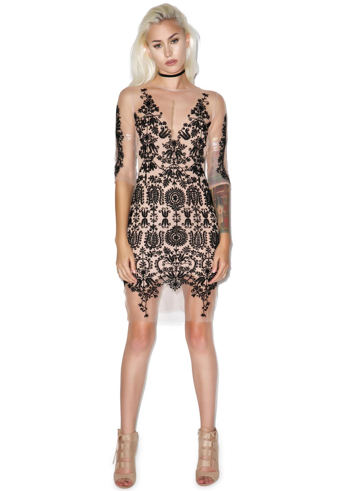 For Love & Lemons Lotus Mini Dress