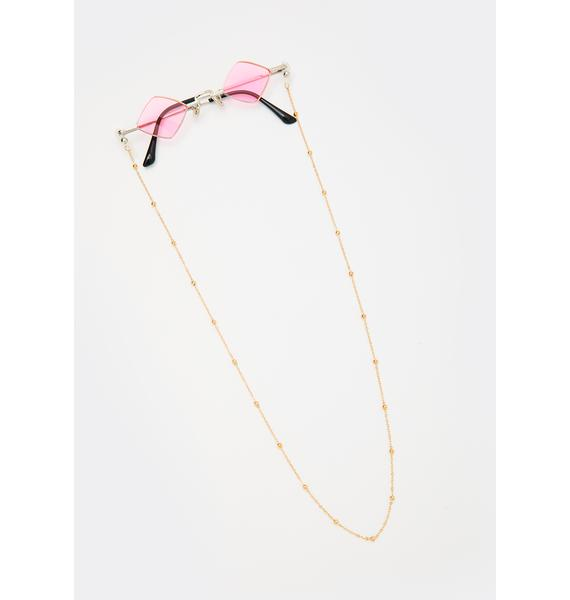 Sugar Half Baked Tiny Chain Sunglasses