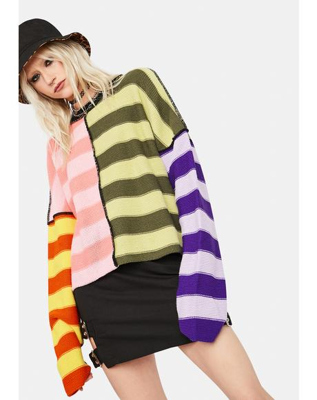 Sensory Striped Knit Sweater