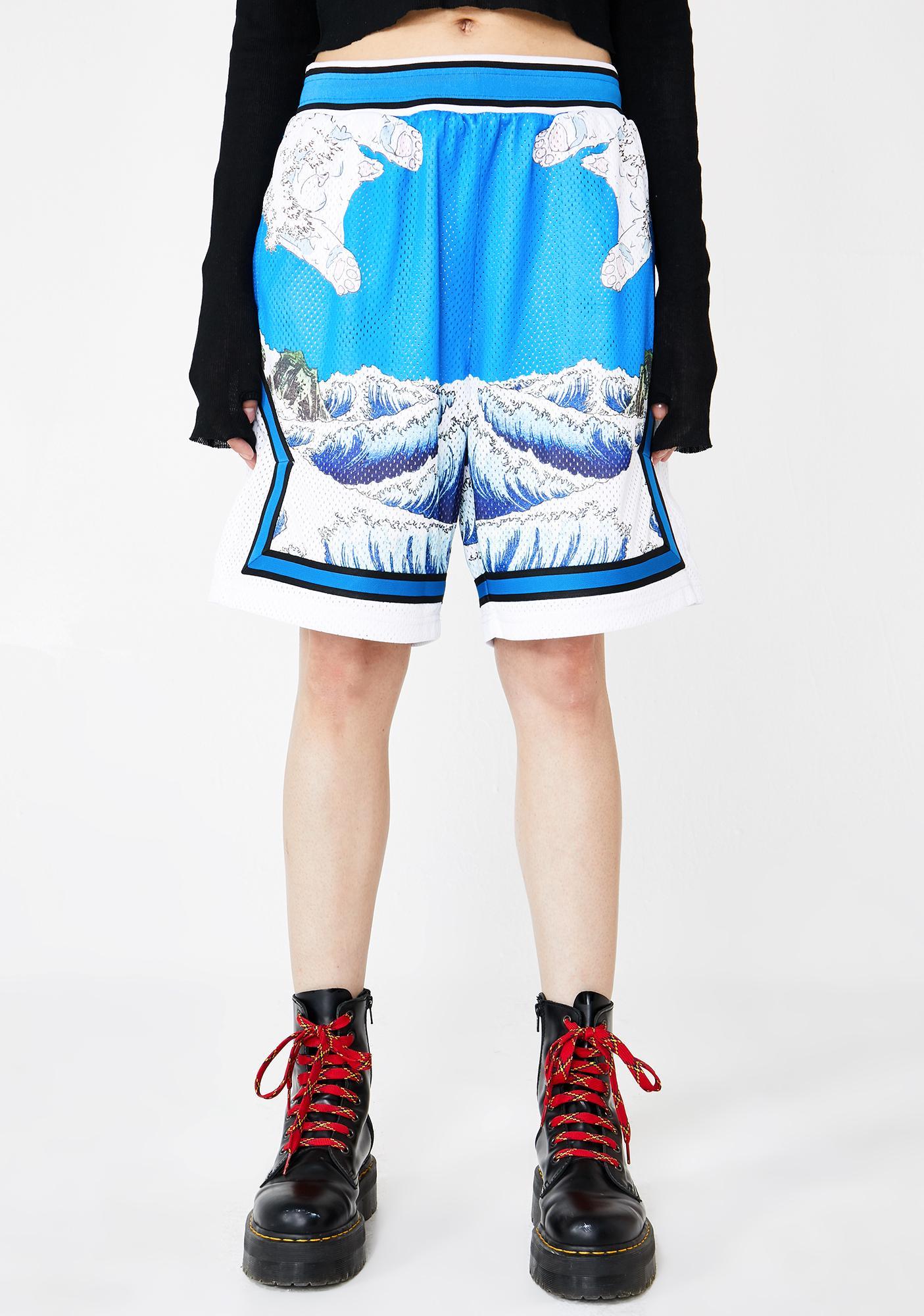 bc3c4049de RIPNDIP Great Wave Basketball Shorts | Dolls Kill