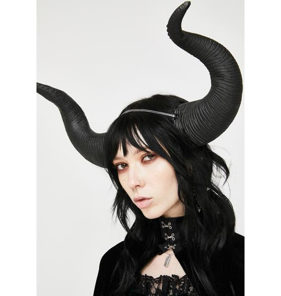 Dark Entity Horn Headpiece