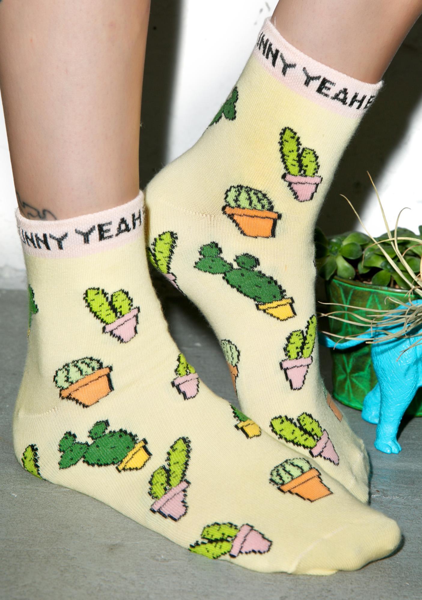 Yeah Bunny Cactus Socks