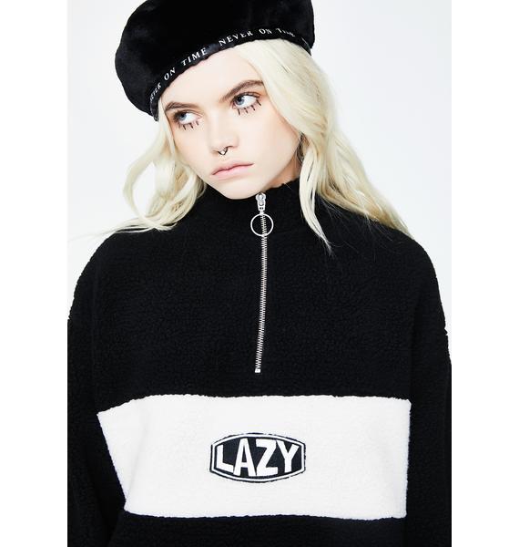 Lazy Oaf Polar Fleece Zip Sweat