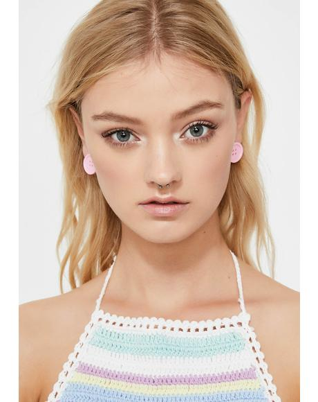 Miss Cute As A Button Earrings
