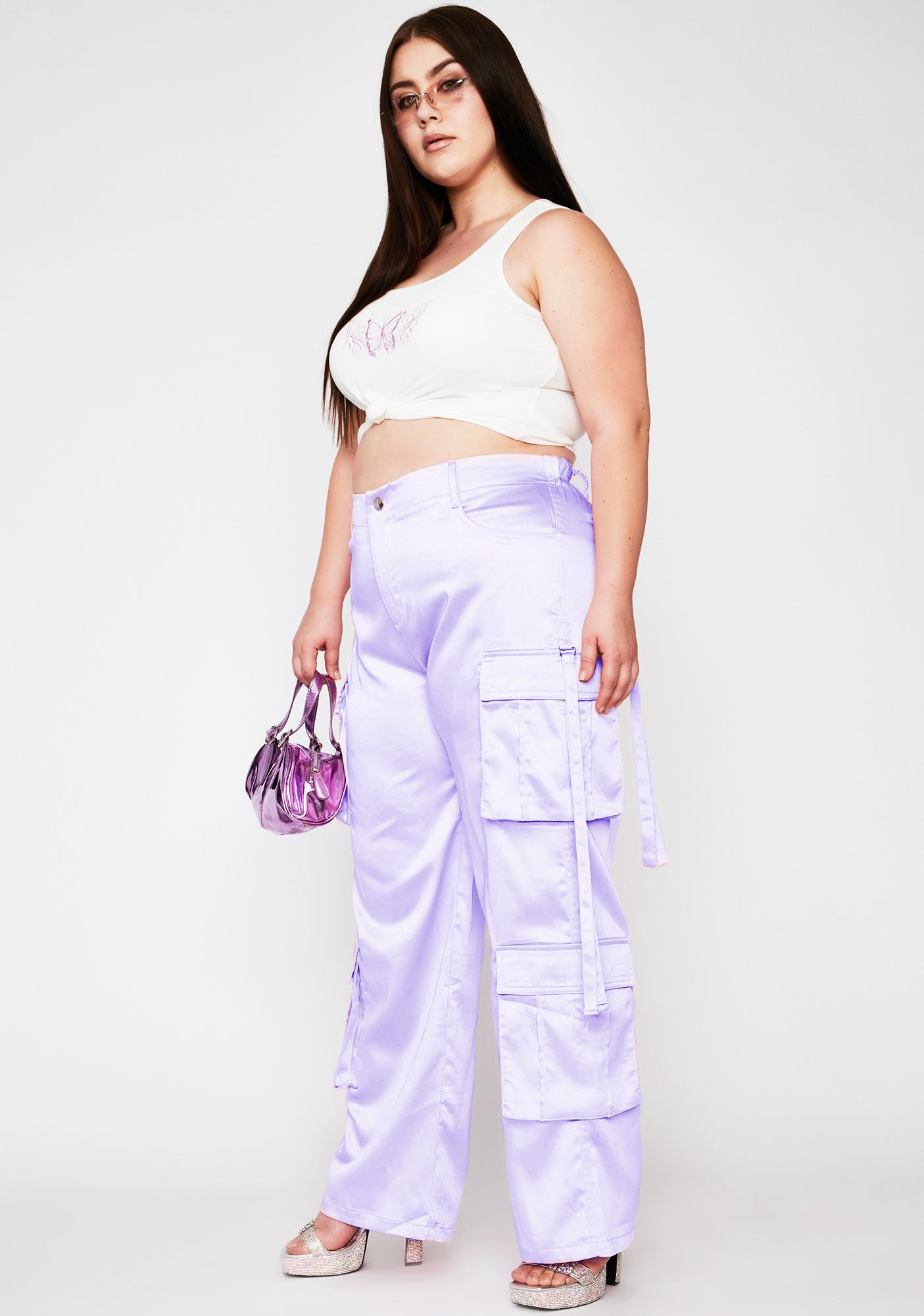 Sugar Thrillz Lavender Totally Candy Crushed Cargo Pants