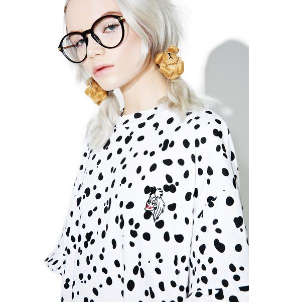 Lazy Oaf X Disney 101 Dalmatians Cruella Tee