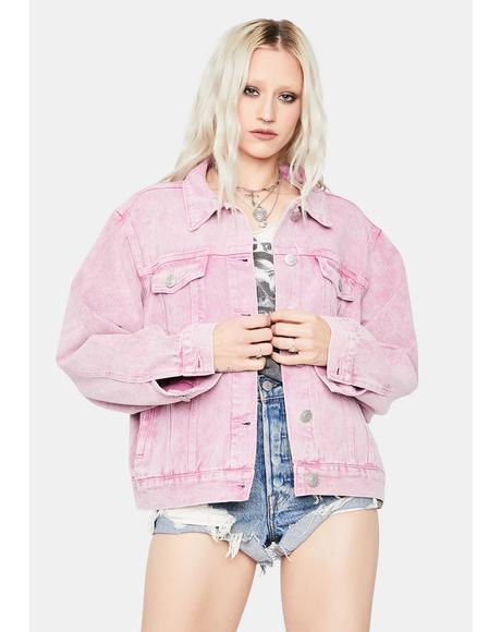 Goin' Rogue Acid Wash Denim Jacket