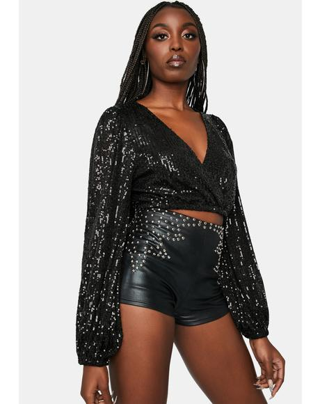 Sparkles And Sass Sequin Crop Top