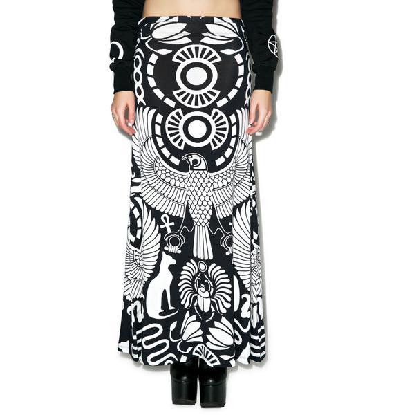 Killstar Vulture Maxi Skirt