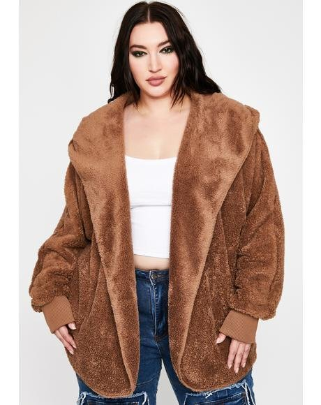 Mocha Soft Girl Szn Plush Jacket