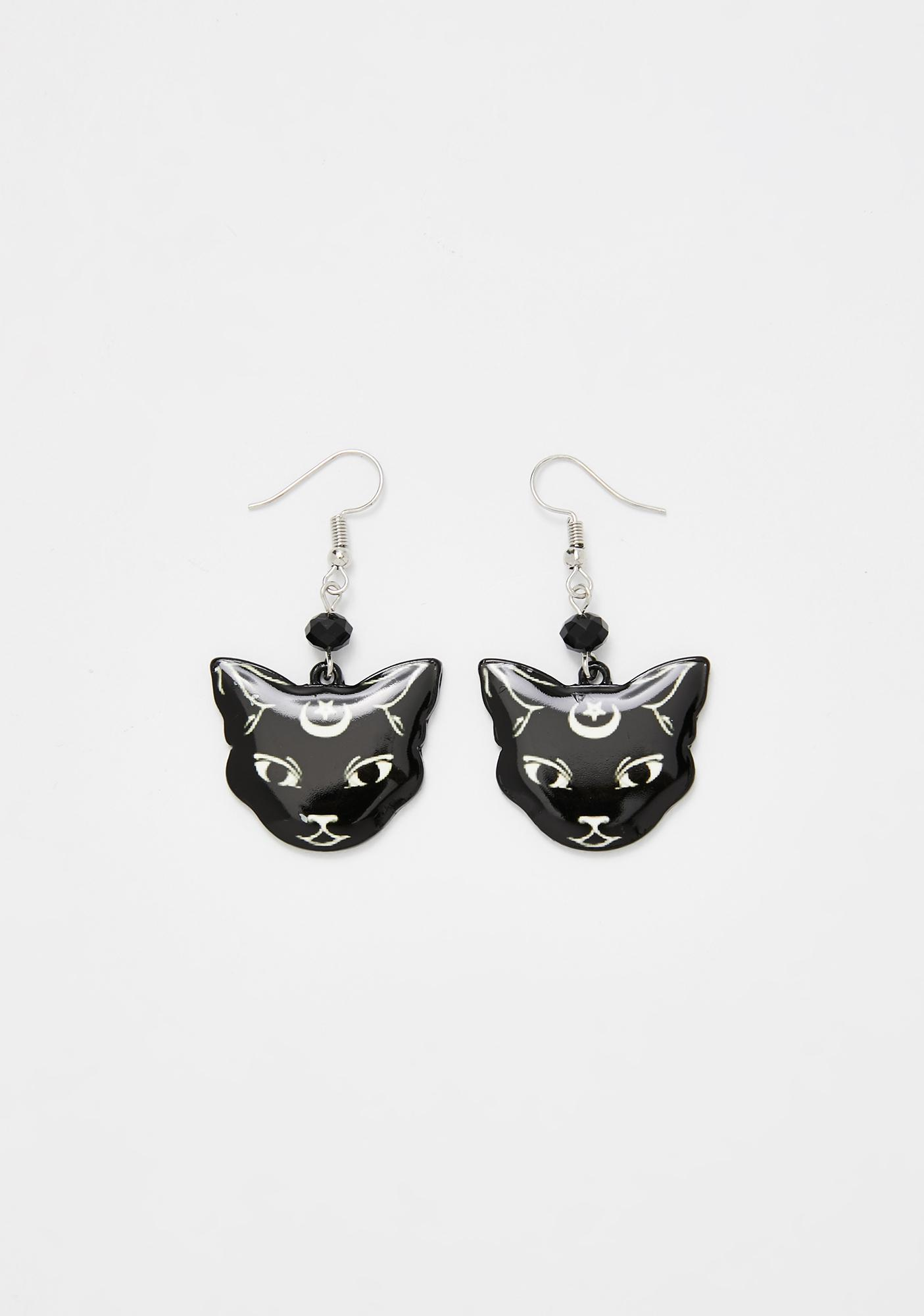 Purr At The Moon Earrings