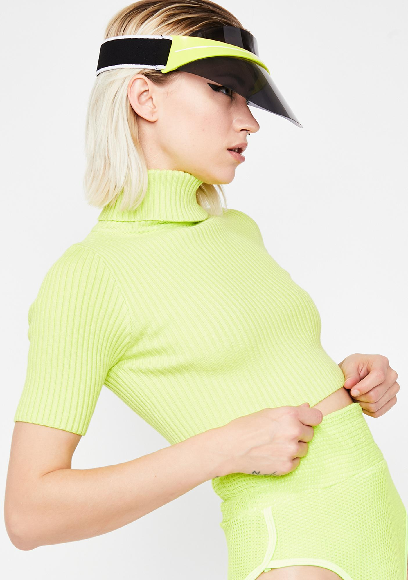 Slime In My Feelings Crop Sweater