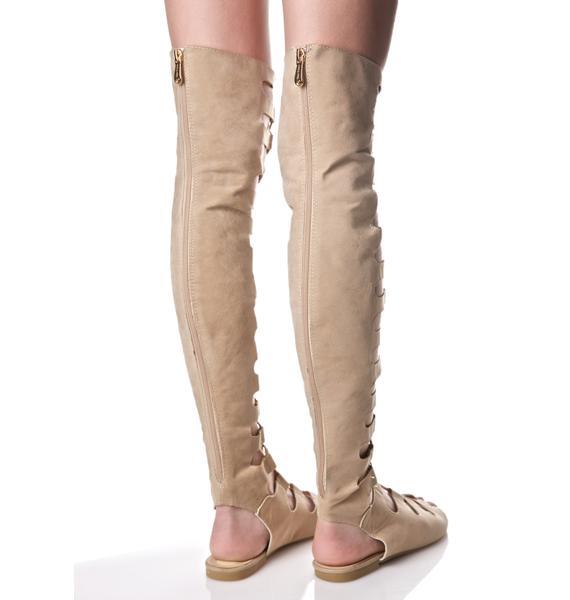 Nude Resist Lace-Up Sandals