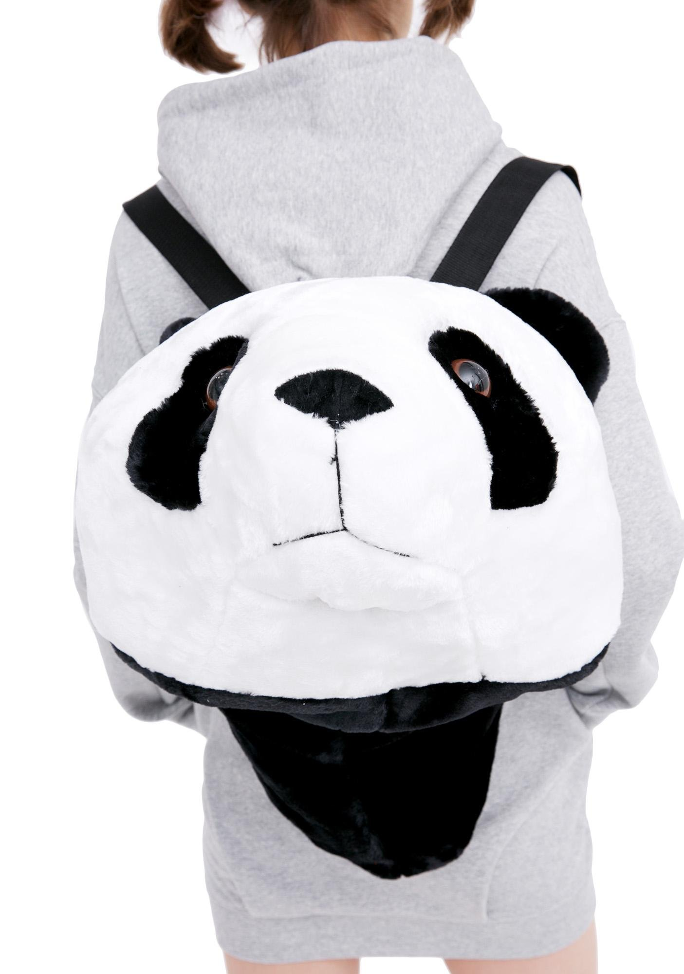 Super Sized Plush Panda Head Backpack