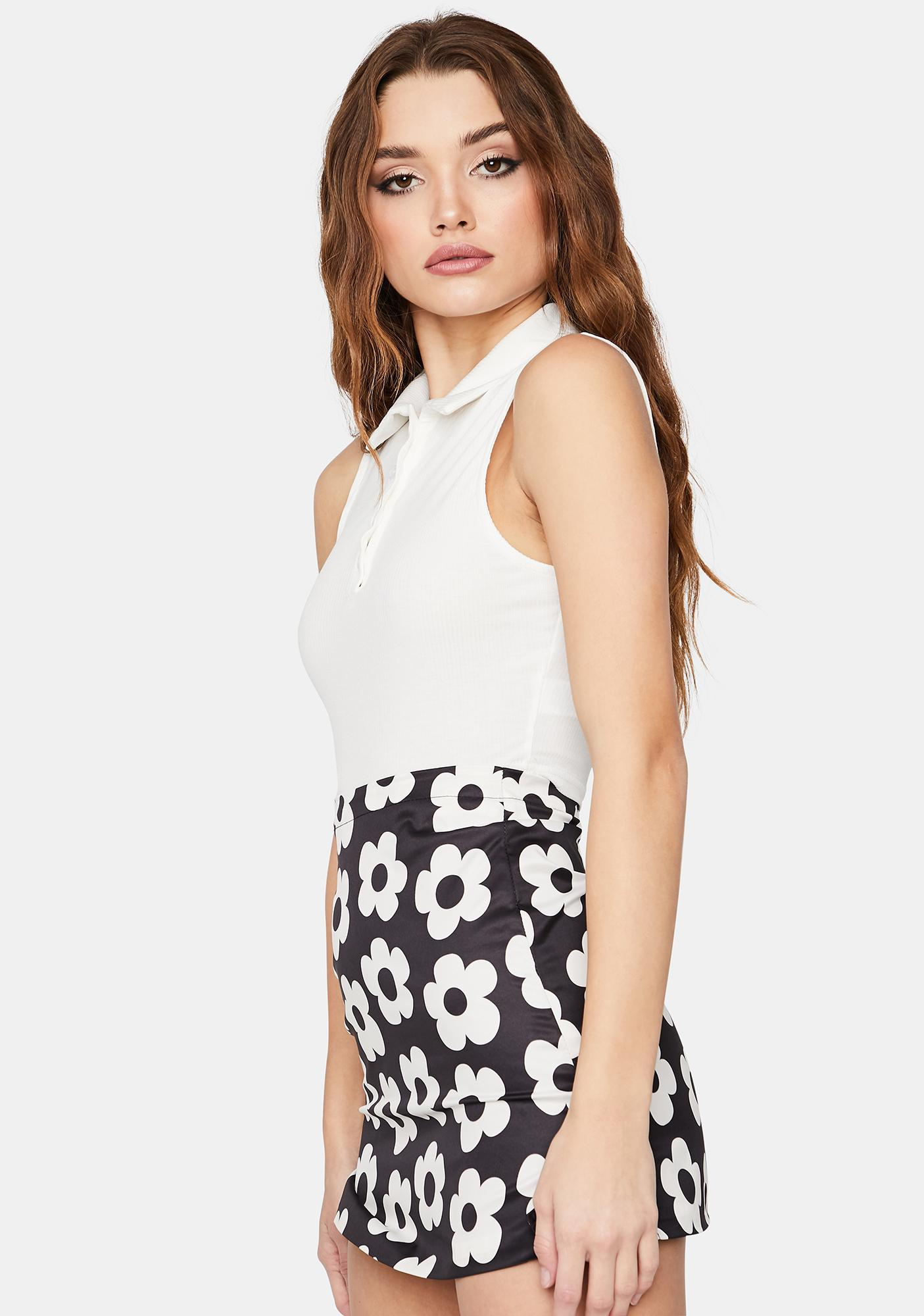 Ivory Think About Us Crop Tank