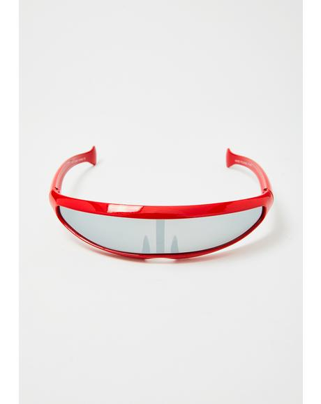 Red Moon Shield Sunglasses