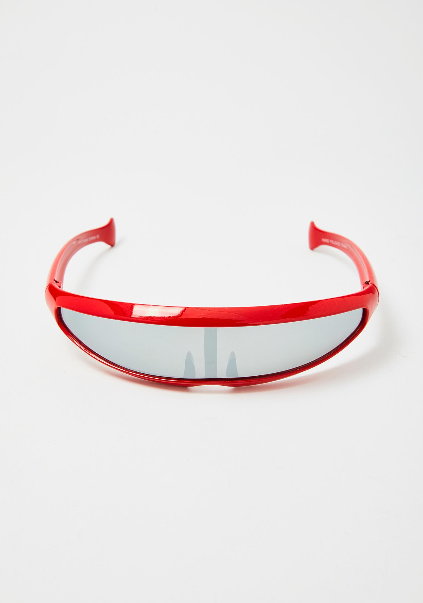 Good Times Eyewear Red Moon Shield Sunglasses