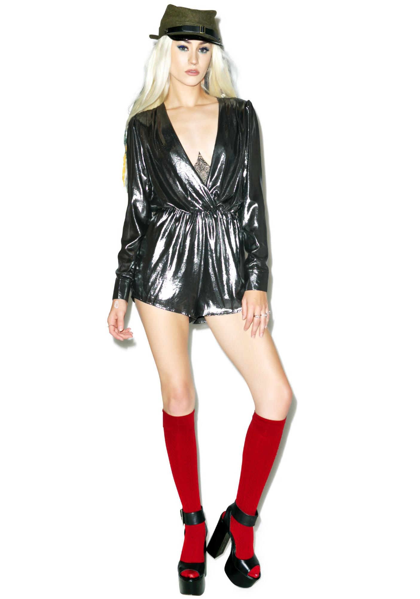 Studio 54 Metallic Romper