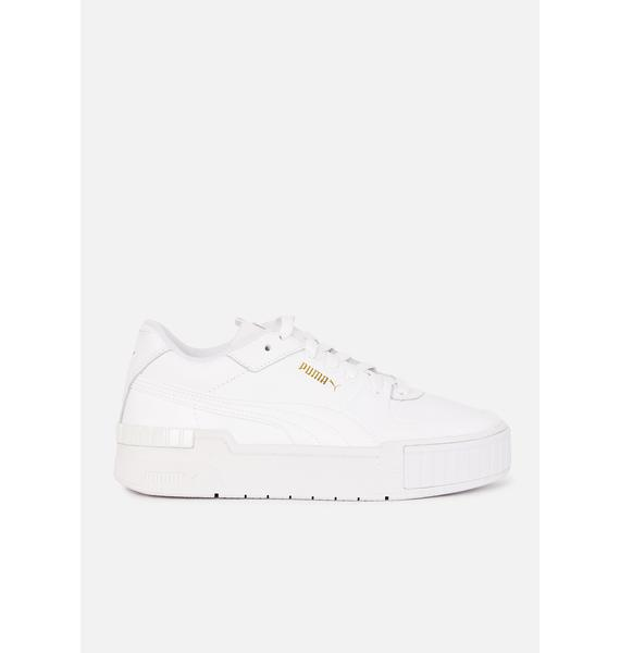 PUMA White Cali Leather Sneakers