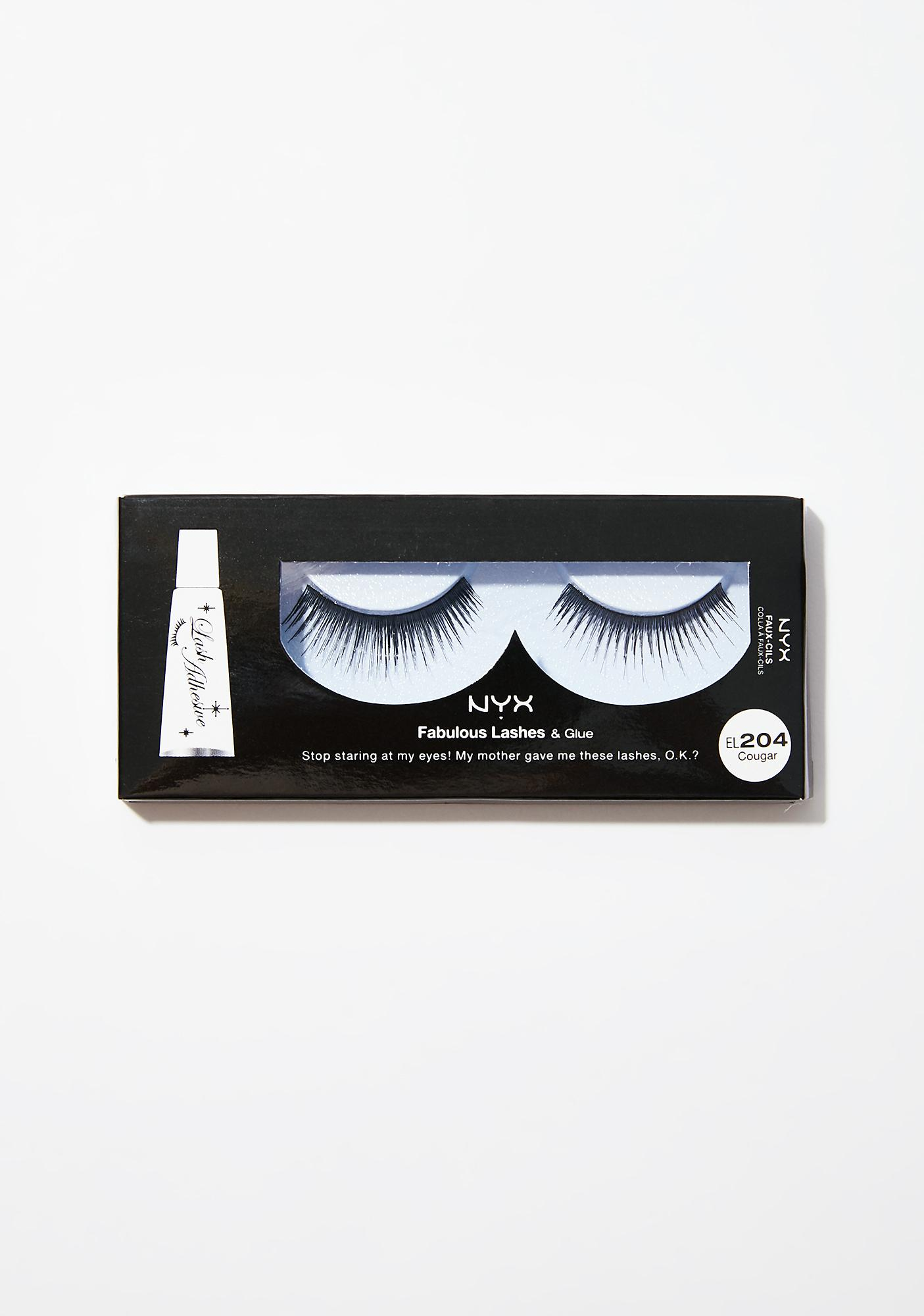NYX Cougar Fabulous Lashes & Glue
