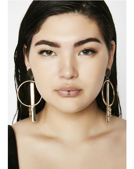 No Problem Geometric Earrings