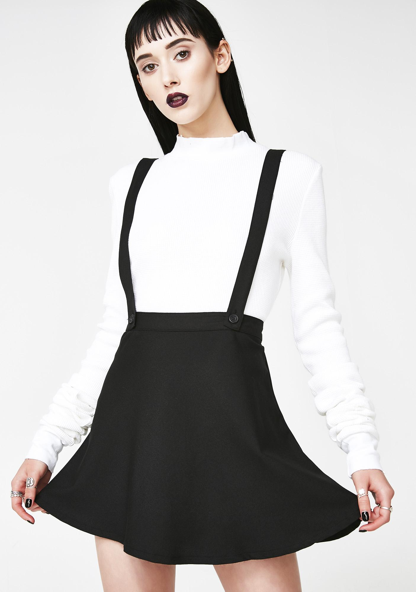 Tripp NYC Suspender Skater Skirt