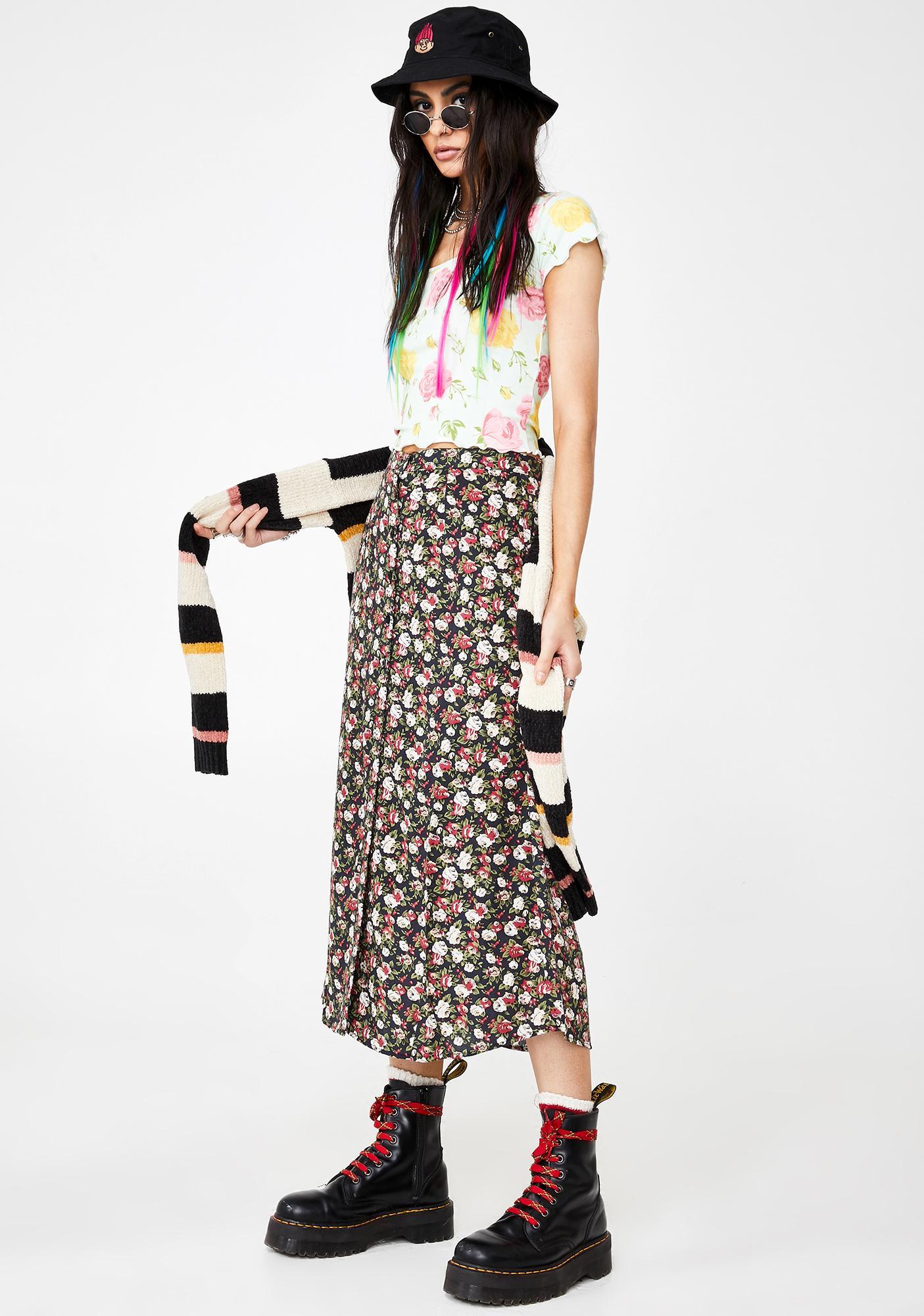 Motel Marni Floral Skirt