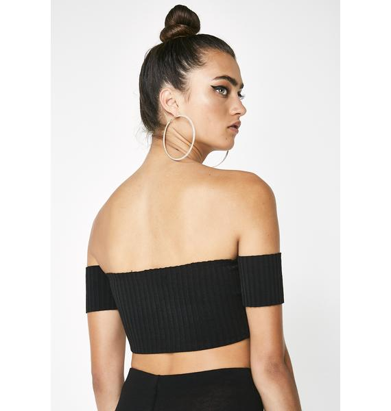 Dark Always Dreaming Off Shoulder Top