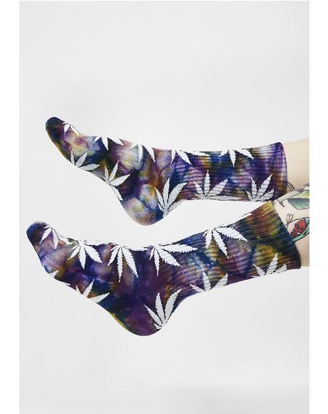 Tie-Dye Plantlife Socks