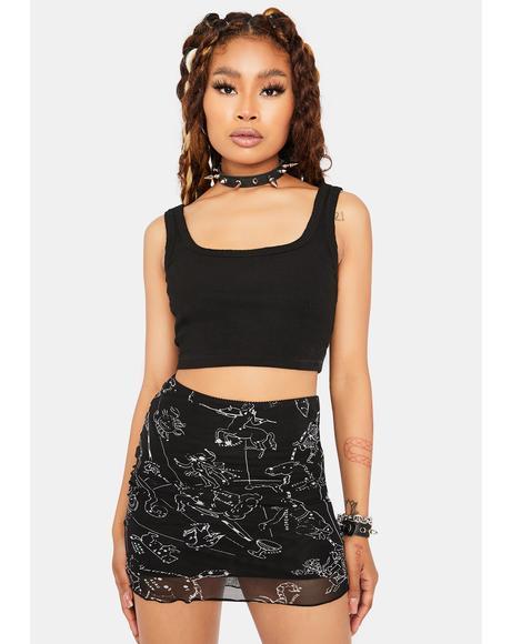 Mystic Astrology Mini Skirt