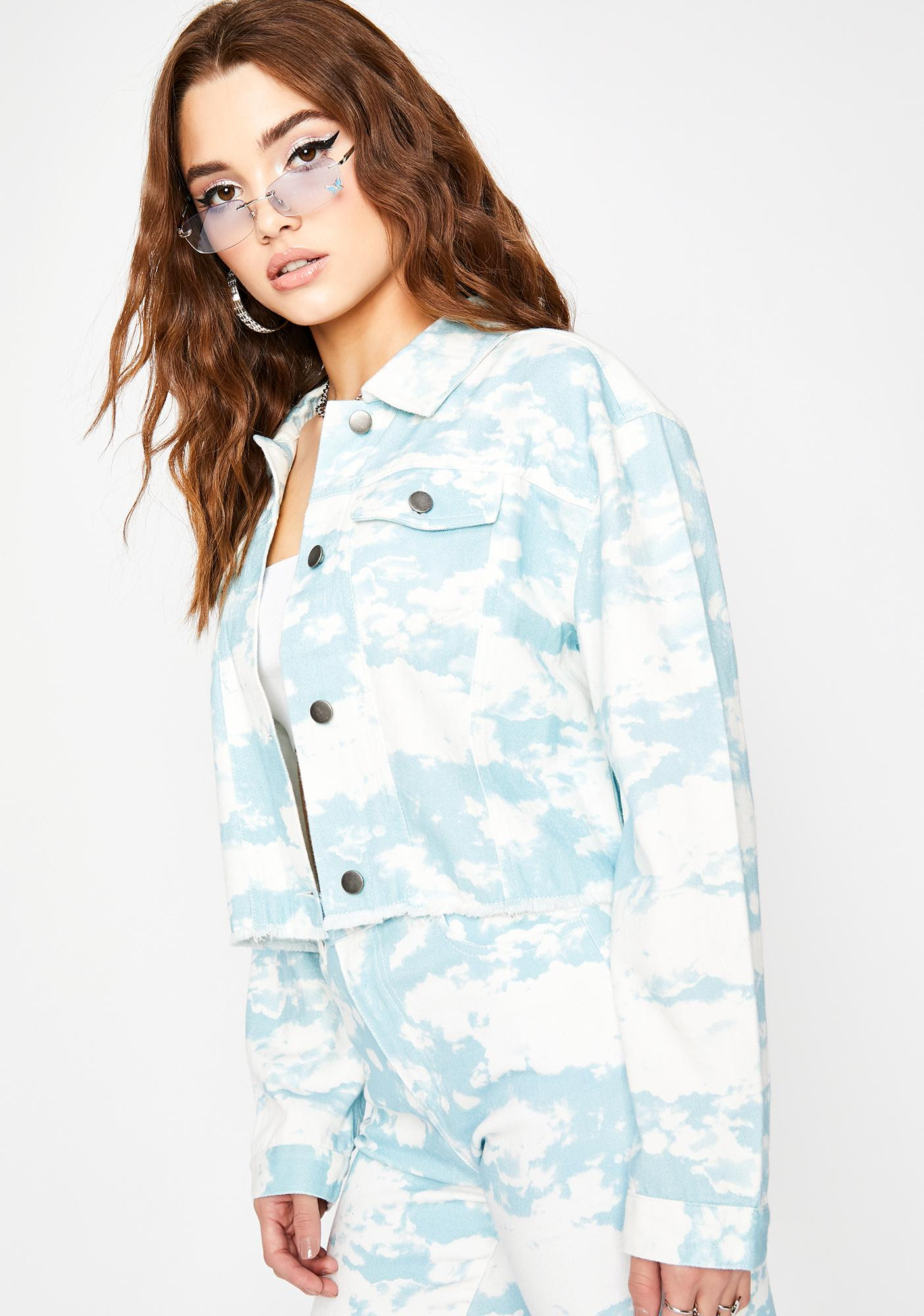 HOROSCOPEZ Caught Daydreaming Denim Jacket