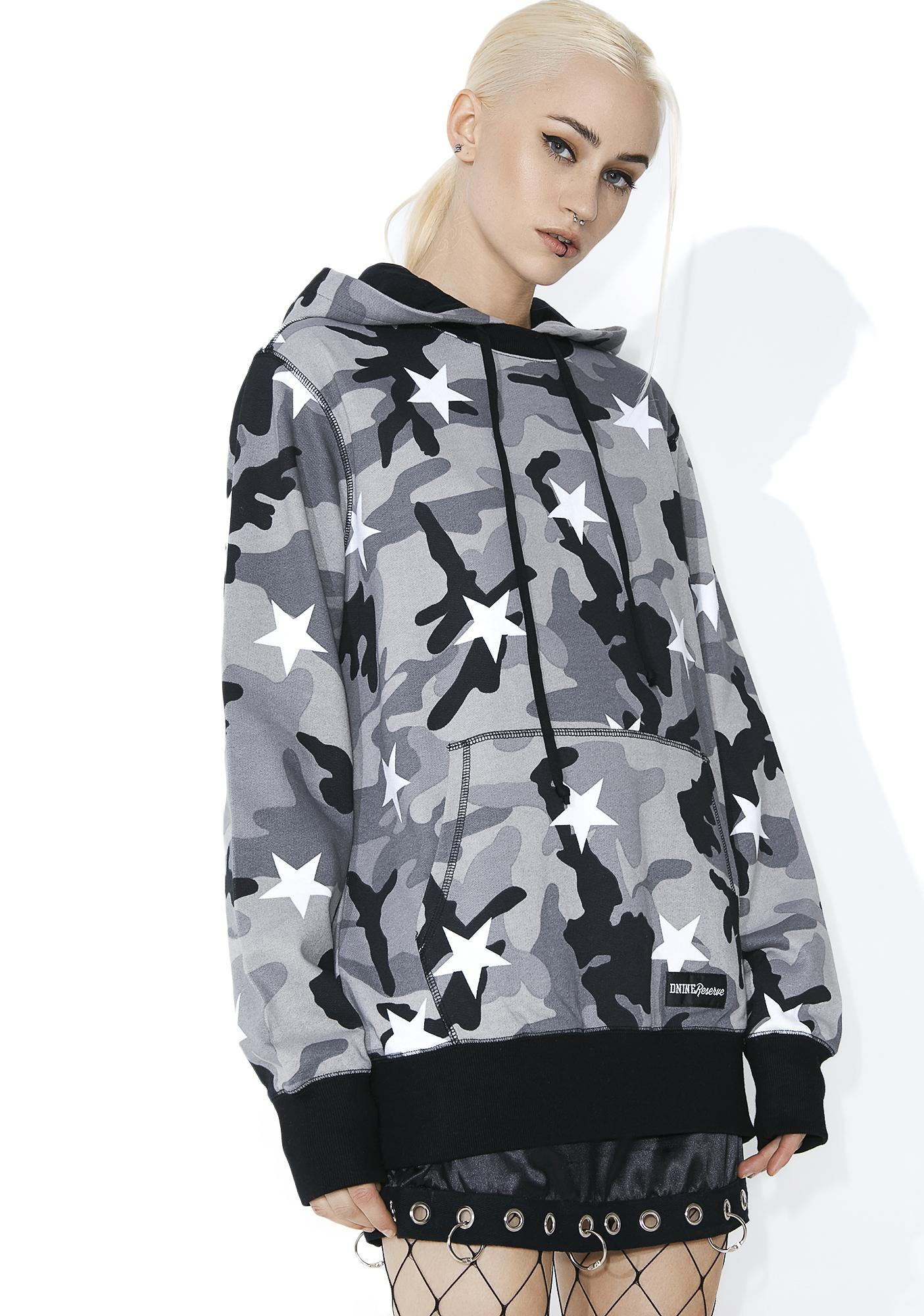 D9 Reserve Camo Stars Pullover Hoodie