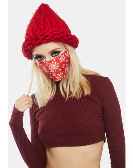 Melt For U Snowflake Holiday Face Mask