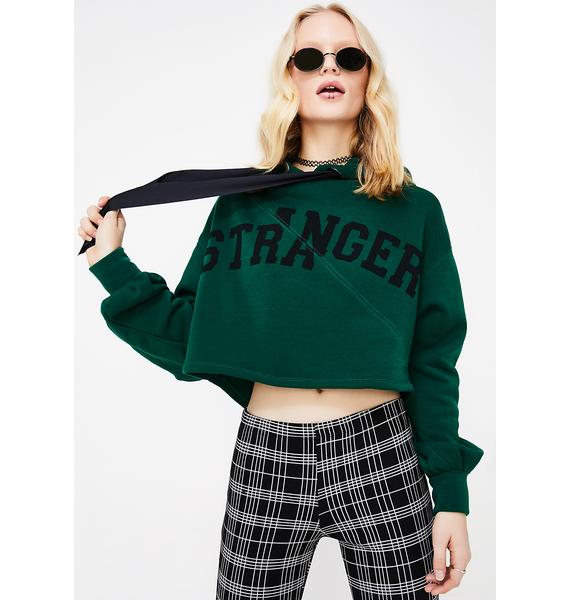 Stranger Cropped Hoodie