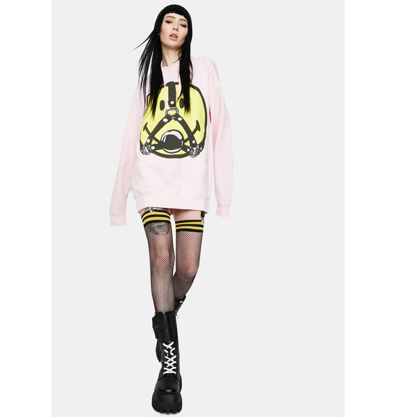 CHINATOWN MARKET Pink Smiley Ball Gag Hoodie