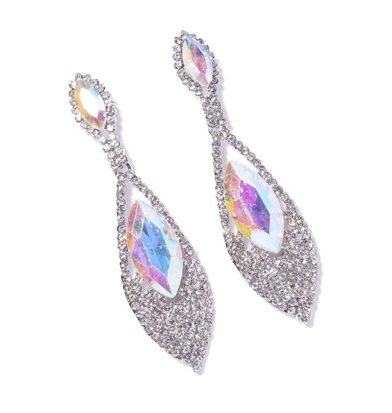 I'm The Queen Rhinestone Earrings