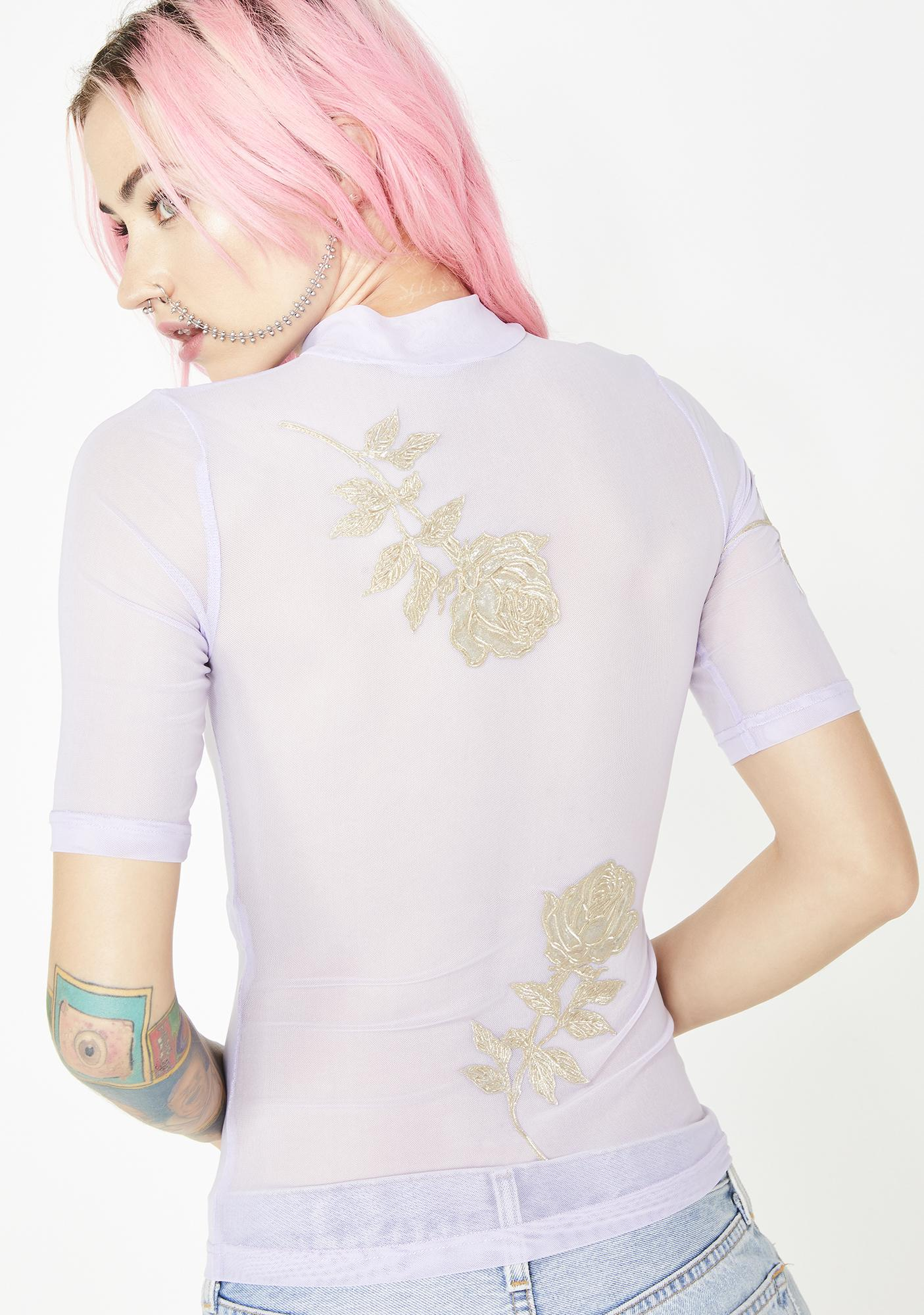 No Dress Lavender Mesh Top