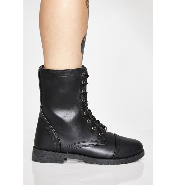 Tempt Me Combat Boots