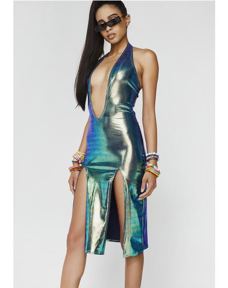 Sleek Freak Slit Dress